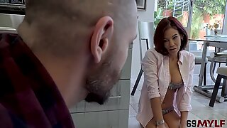 Ryder Skye In Sloppy Kissing And Fucking In The Kitchen