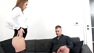 Glam piss slut urinates