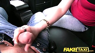 FakeTaxi Black haired babe fucks cab driver