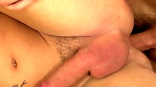 Cute amateur twink ass filled with cum