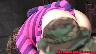 Bigass slut dominated with toys and nt