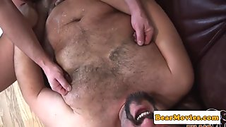 Cocksucking top bear ass banging superchub