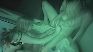 Big Breasted Amateur Lesbians Fuck In Hot Tub