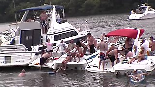wild home video of iowa strippers on a boating vacation in missouri