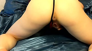 Trinity Rayne on hands and knees leaving a puddle