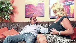 Monster Tit Granny fucks Big Dick Grandpa in Casting